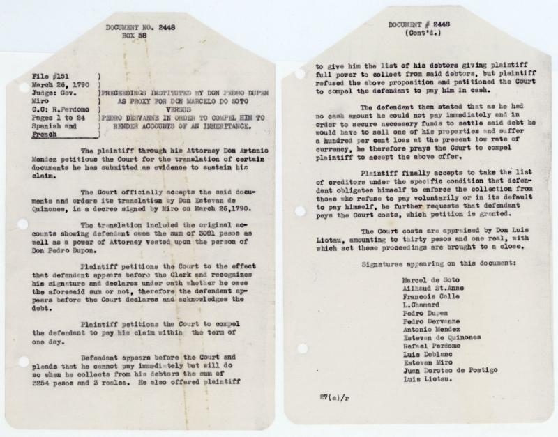 Document # 1790-03-26-03 - Louisiana Colonial Documents