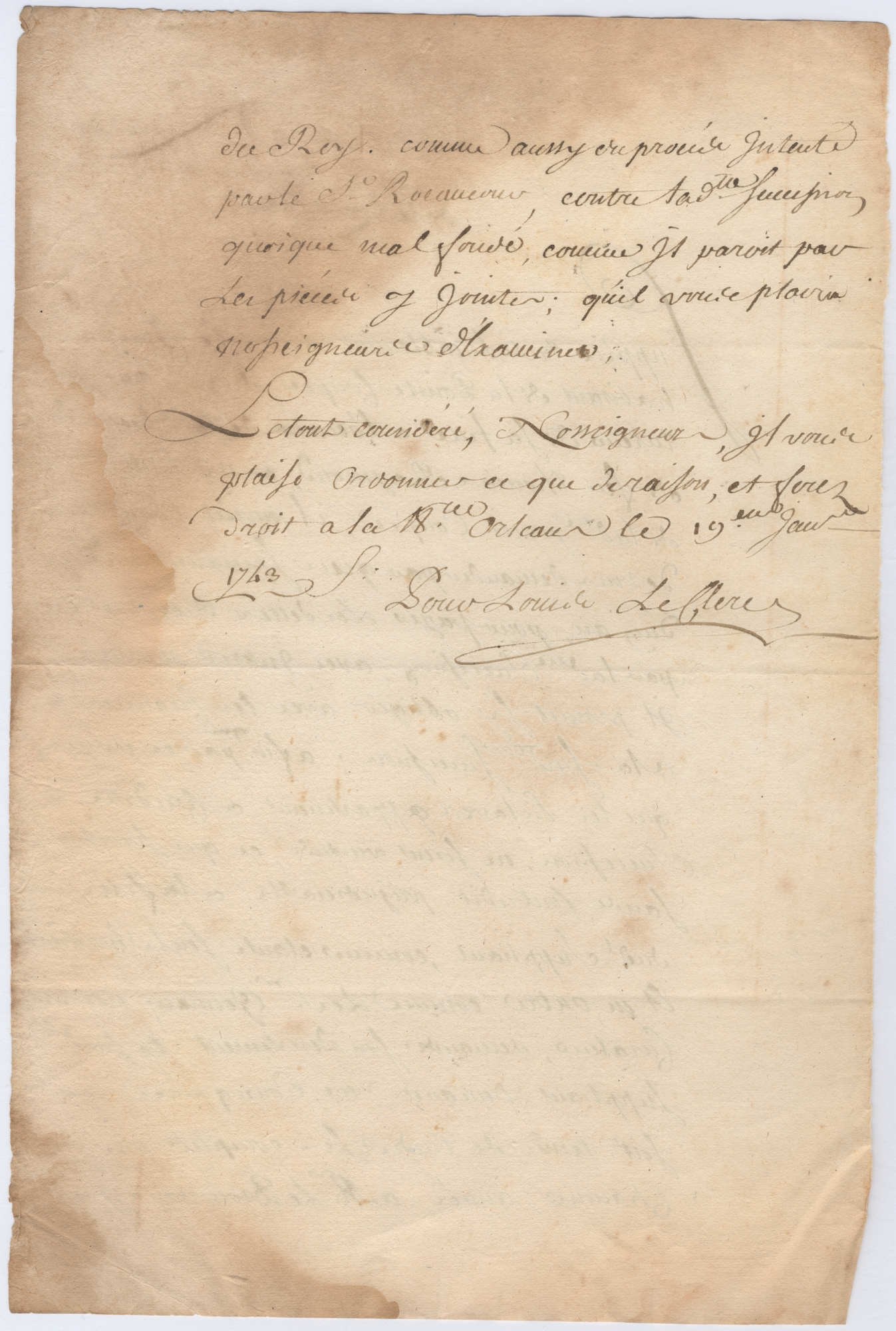Document # 1743-01-19-03 - Louisiana Colonial Documents